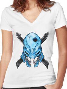 Elite Skull - Halo Legendary Women's Fitted V-Neck T-Shirt