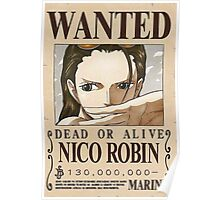 NEW WORLD NICO ROBIN WANTED POSTER Poster