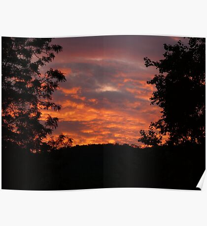Blue Mountain Sunset Poster