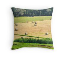roly poly paddock Throw Pillow