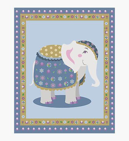 Indian elephant posing Photographic Print