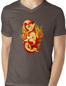 Flaming Sunset Shimmer Mens V-Neck T-Shirt