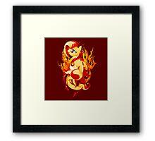 Flaming Sunset Shimmer Framed Print
