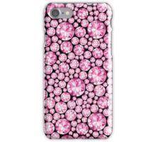Extravagantes pinkes Diamanten Muster iPhone Case/Skin