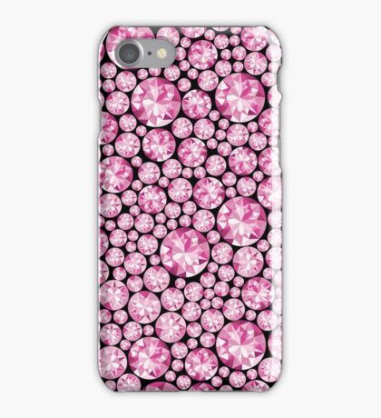 Extravagantes pinkes Diamanten Muster iPhone Case/Skin