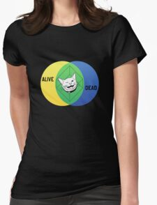 Schrödinger's Cat Venn Diagram Womens Fitted T-Shirt