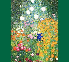 Flower Garden by Gustav Klimt Womens Fitted T-Shirt
