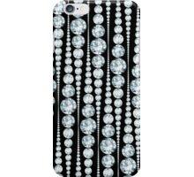 Elegantes weißes Diamanten Streifenmuster iPhone Case/Skin