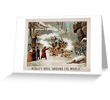 Performing Arts Posters Kiralfy Bros Around the world 1501 Greeting Card