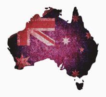 Australia Flag Map One Piece - Short Sleeve