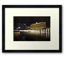 Bellagio  Fountain show side view Framed Print