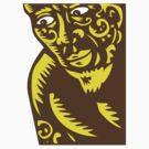 Tagaloa Peeking Woodcut by patrimonio