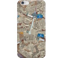 Illustrated map of Berlin-Mitte. Sepia  iPhone Case/Skin