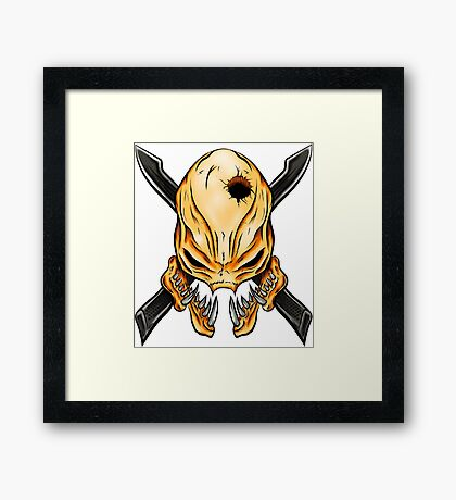 Elite Skull - Halo Legendary Orange Framed Print