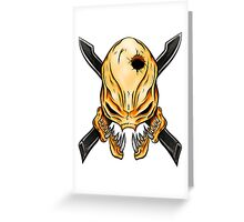 Elite Skull - Halo Legendary Orange Greeting Card