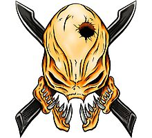 Elite Skull - Halo Legendary Orange Photographic Print