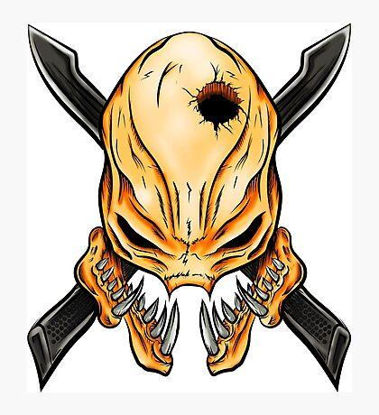Elite Skull - Halo Legendary Orange Photographic Print