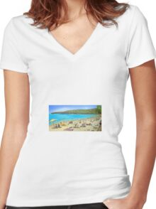 Noosa Beach  Women's Fitted V-Neck T-Shirt