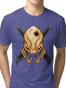 Elite Skull - Halo Legendary Orange Tri-blend T-Shirt