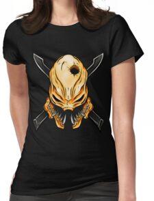 Elite Skull - Halo Legendary Orange Womens Fitted T-Shirt