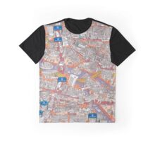 Illustrated map of Berlin-Mitte. Red Graphic T-Shirt