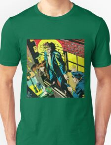 Criminal on a ledge surrounded by Cops Unisex T-Shirt