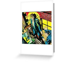 Criminal on a ledge surrounded by Cops Greeting Card