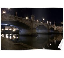 Bridge on River Tiber Poster