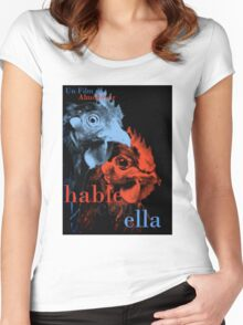 "Almodovar movies: ""Hable con ella"" Women's Fitted Scoop T-Shirt"