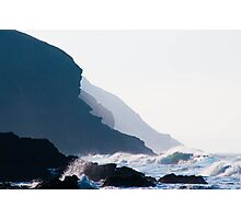 Misty Headland Photographic Print