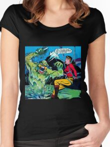 Swamp Sludge Thing attacks Women's Fitted Scoop T-Shirt