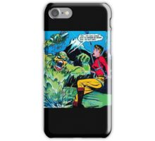 Swamp Sludge Thing attacks iPhone Case/Skin