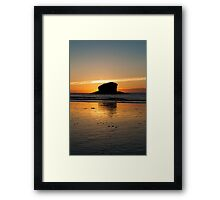 Gull Rock at Sunset #2 Framed Print