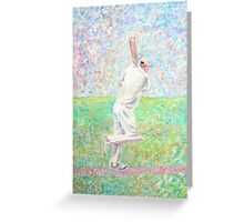 The cricketer Greeting Card