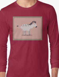zebra posing Long Sleeve T-Shirt