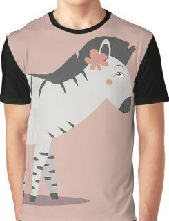 zebra posing Graphic T-Shirt