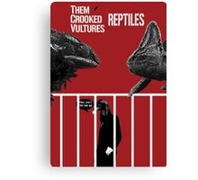 Them Crooked Vultures - Reptiles Canvas Print