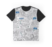 Illustrated map of Berlin-Mitte. Black & White Graphic T-Shirt