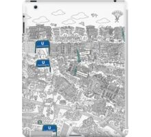 Illustrated map of Berlin-Mitte. Black & White iPad Case/Skin