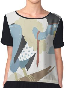 Vulture waiting in a branch Chiffon Top