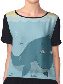 Whale at sea Chiffon Top