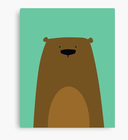 Stumped Bear Canvas Print