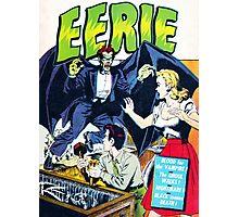 Eerie Vampire Comic Cover Photographic Print