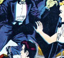 Eerie Vampire Comic Cover Sticker