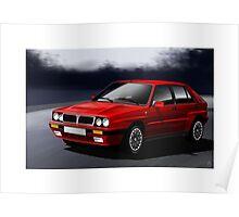 Poster artwork - Lancia Delta Integrale Poster