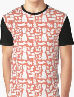 dogs - coral Graphic T-Shirt
