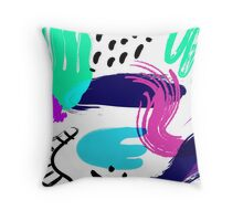 Pop Art Splatters Throw Pillow
