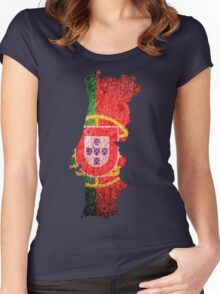 Portugal Flag Map Women's Fitted Scoop T-Shirt