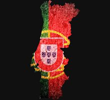 Portugal Flag Map Unisex T-Shirt