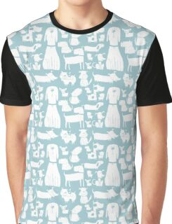 dogs - pale blue Graphic T-Shirt